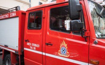 κακοκαιρία Έβρος παρασύρθηκε πυροσβεστικό όχημα