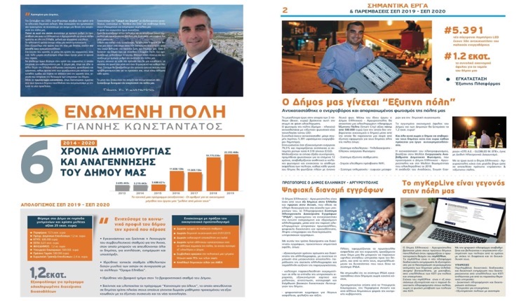 Ελληνικό - Αργυρούπολη 6 χρόνια Ενωμένη Πόλη