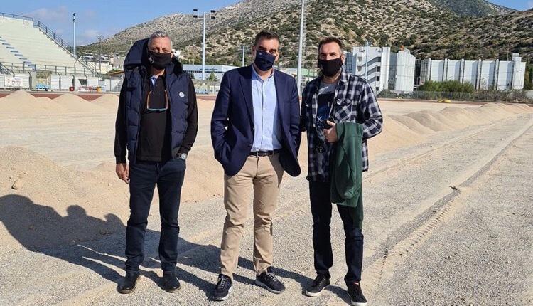 Γιάννης Κωνσταντάτος επίσκεψη στάδιο ανακατασκεύη