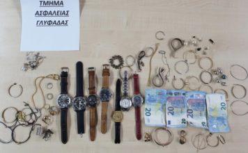 Συνεληφθή 29χρονος κλοπές Γλυφάδα Αργυρούπολη