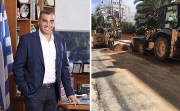 Γιάννης Κωνσταντάτος έργο αποχέτευσης ομβρίων 2 εκατομμυρίων