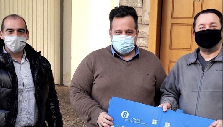 Δήμος Ηλιούπολης παράδοση κάδων ανακύκλωσης