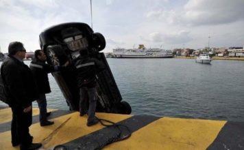 πτώση οχήματος λιμάνι Πειραιά