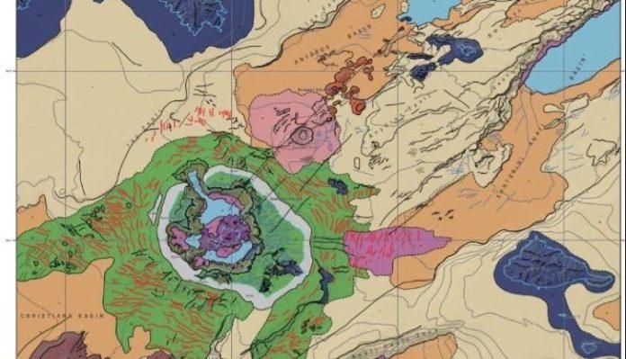 πρώτος υποθαλάσσιος γεωμορφολογικός χάρτης Σαντορίνης