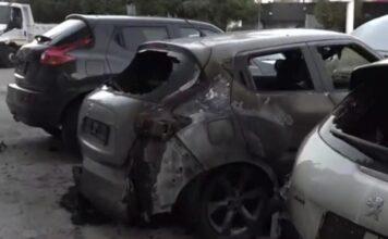 Εμπρηστική επίθεση έκθεση αυτοκινήτων Καισαριανή